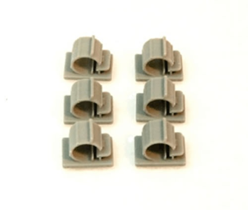 cable bracket (L) self-sticking 10 mm gray