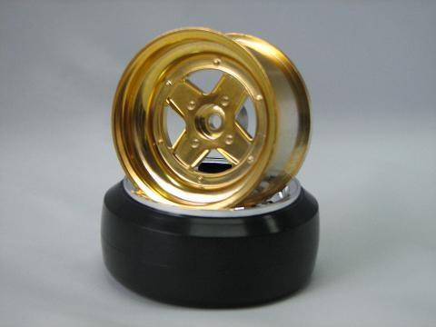 Surging 4-Speichen Type II Felgen 1:10 Offset 6mm gold