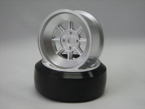 Hayashi Rims type CR 1:10 Offset 5mm silver