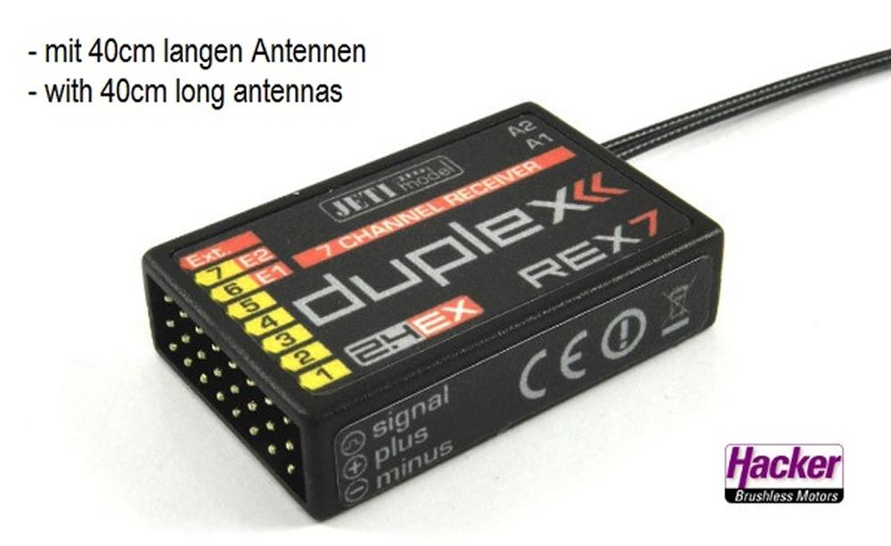 DUPLEX 2.4EX Empfõnger Rex 7  A40 A40 A40