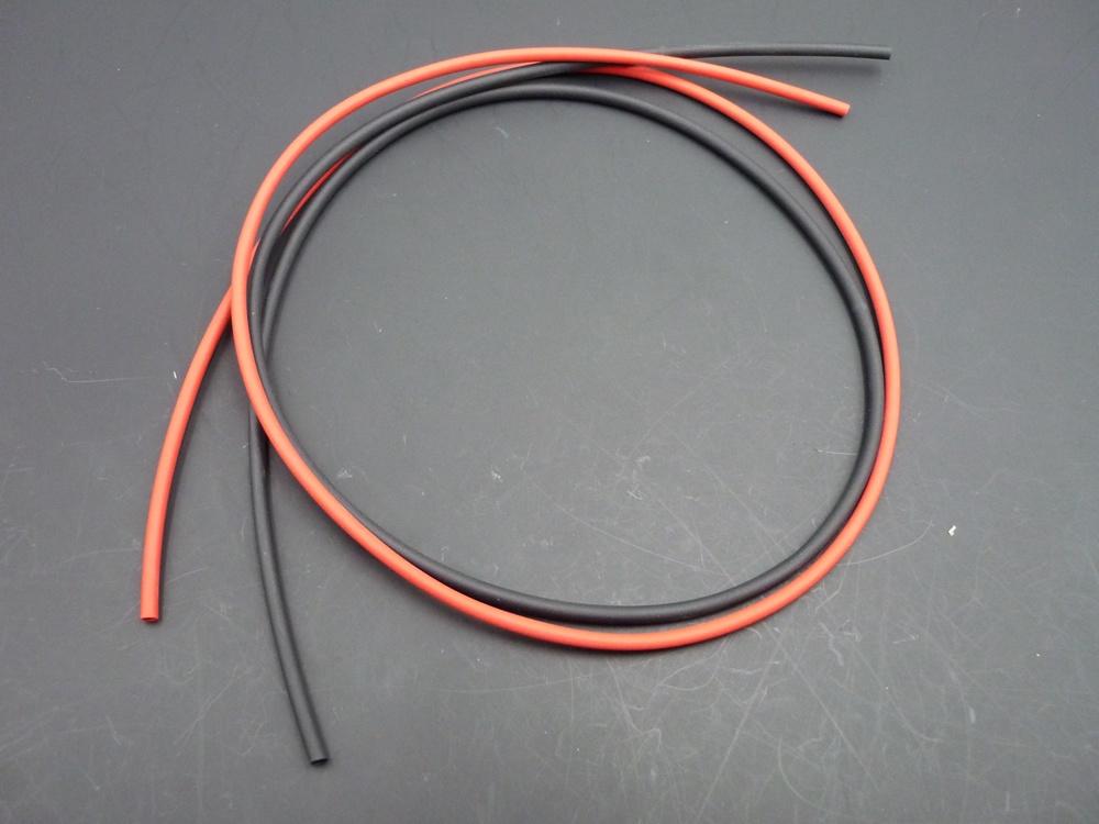 Heat shrink tubing red/black 4,8 mm