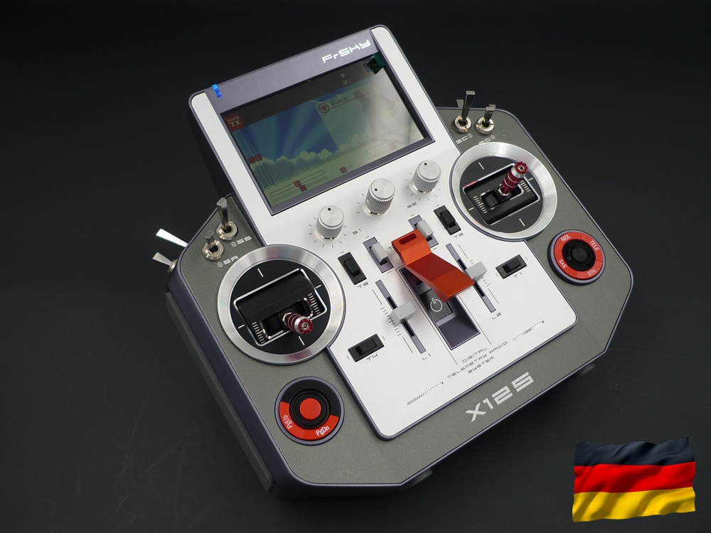 HORUS X12S EU/LBT silver FrSky, double power supply, german