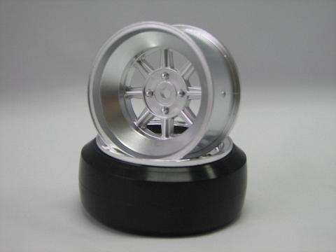 Hayashi Rims type CR 1:10 Offset 8mm silver