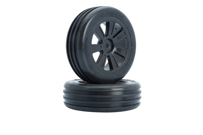 VTEC Groove 2WD pre-glued tyre front - 1/10 Buggy J-Compound