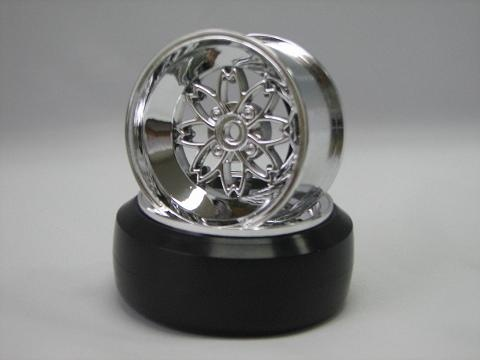 TEAM Yayoi Rims 1:10 Offset 6mm chrome