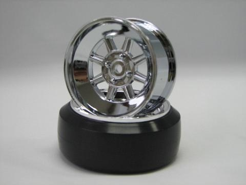 Hayashi Rims type CR 1:10 Offset 5mm chrome
