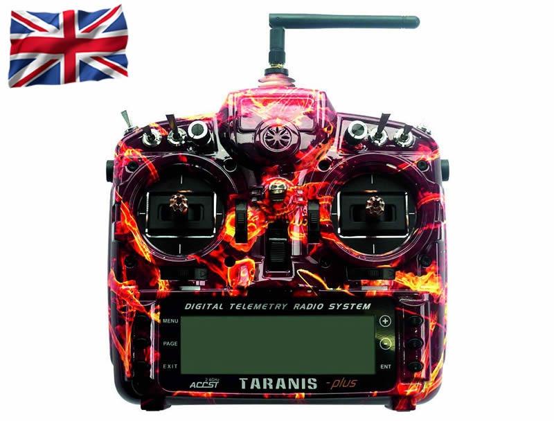 TARANIS X9D-plus EU/LBT FrSky Blazing Skull Special-Edition