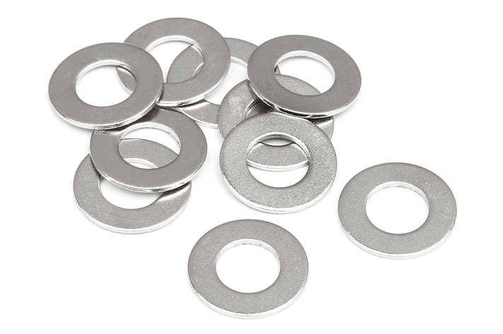 Washer M5x10x0.5 mm silver (10pcs)