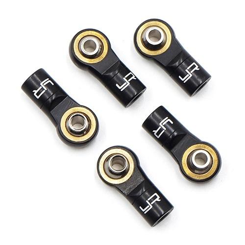 Aluminum Reversed Thread M3 Rod Ends 5pcs Black
