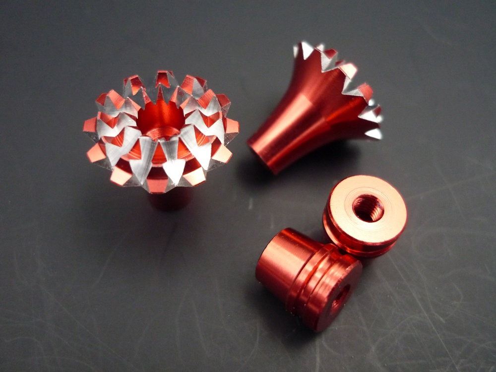 Gimbal Stick Ends 3D Grande Lotus Style M3, red