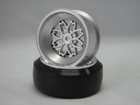 TEAM Yayoi Felgen 1:10 Offset 6mm silber