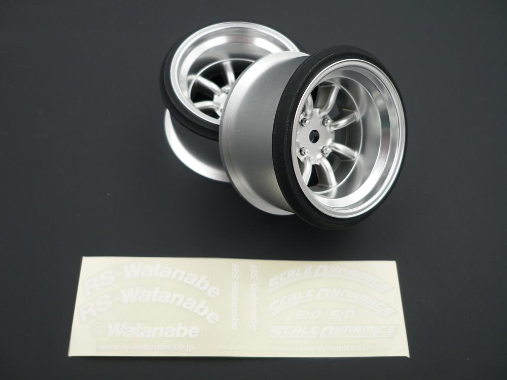 V16D RS Watanabe offset 12mm silber (2Stk)