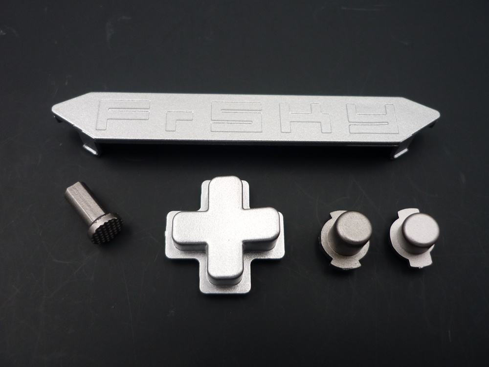 Taranis X-LITE Trim and buttons set silver