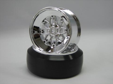 TEAM Yayoi Rims 1:10 Offset 3mm chrome